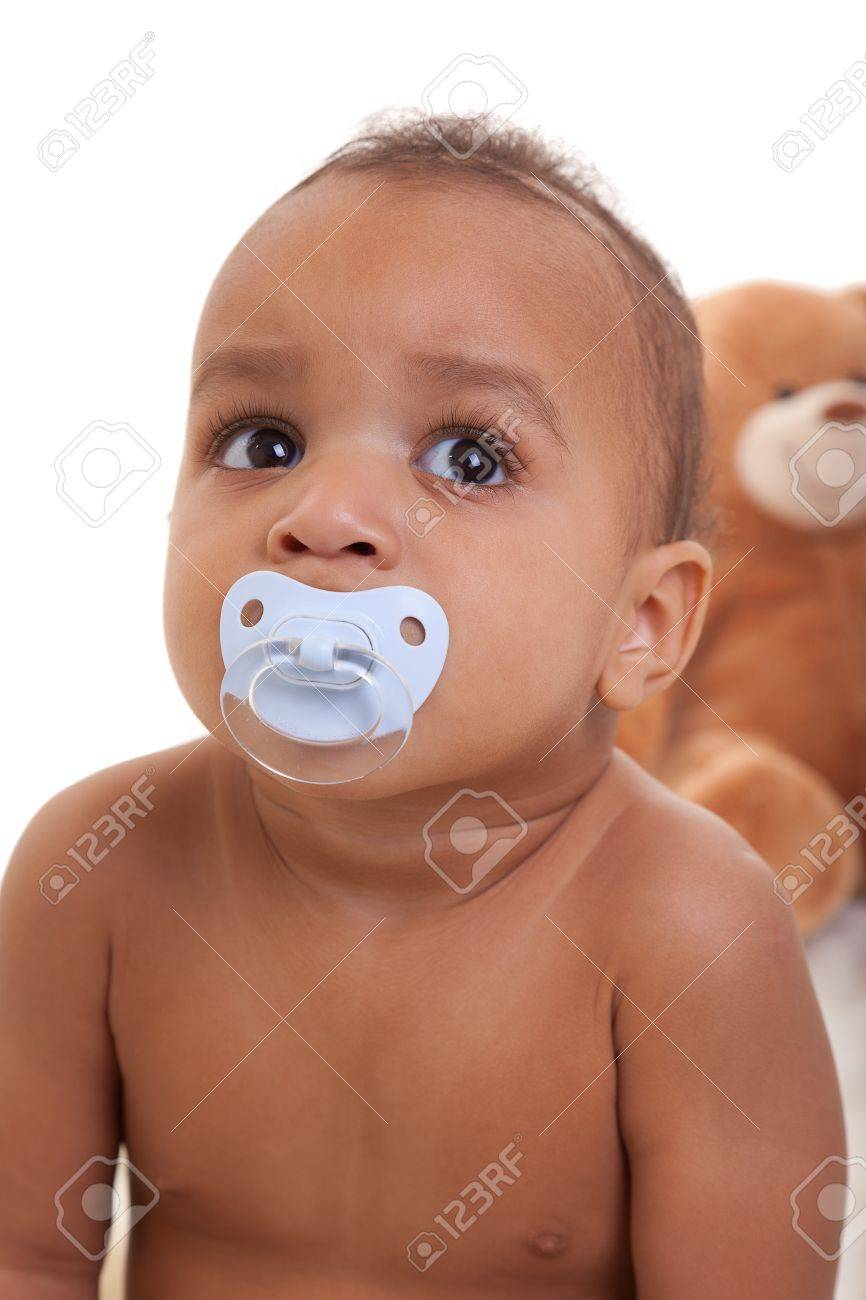 Adorable African American Boy  smiling Stock Photo - 9389511