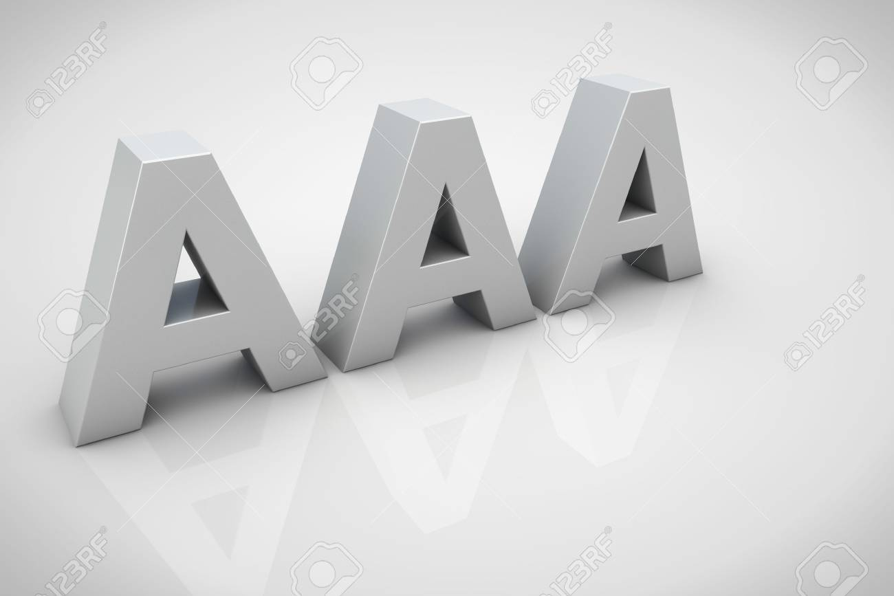 3d Render Aaa Financial Credit Notation Stock Photo Picture And