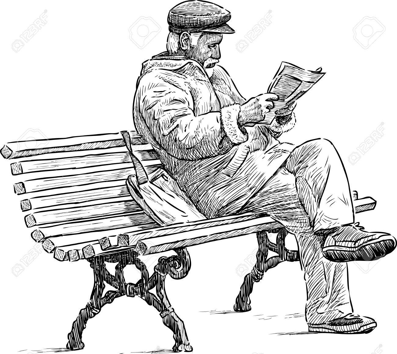 Drawing Of Old Man Sitting Drawing Art Ideas