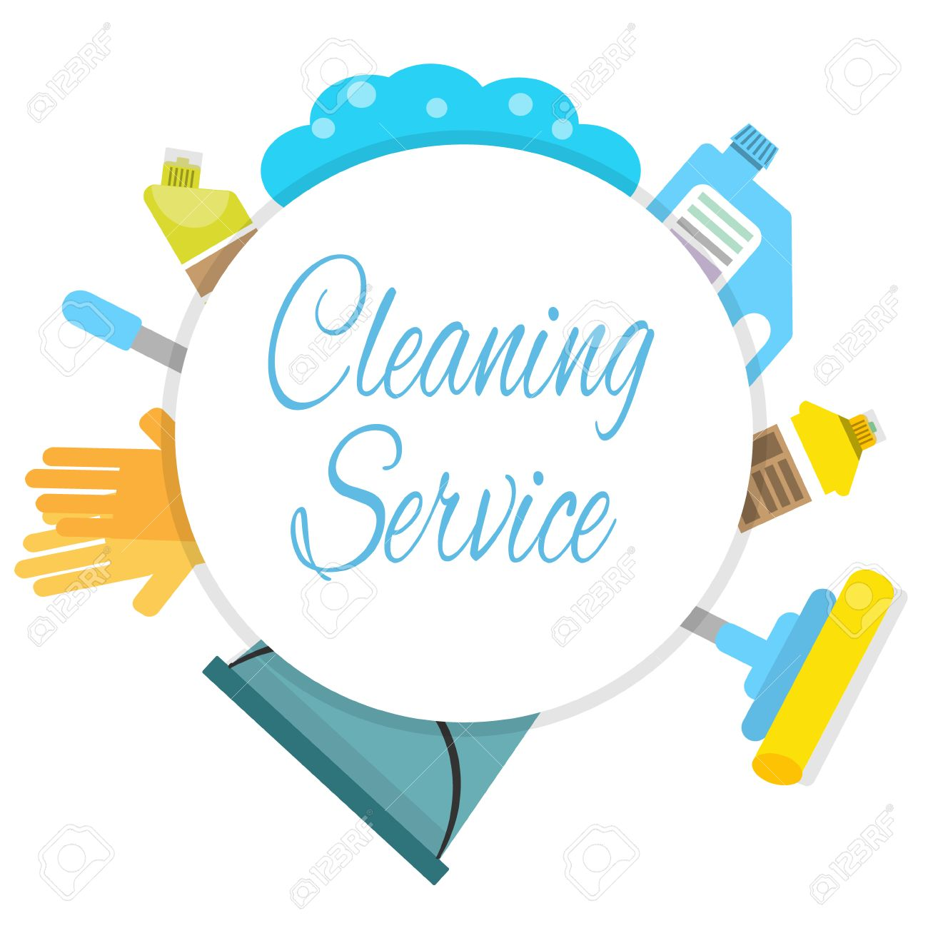 Cleaning Company Logo Concept Royalty Free Cliparts Vectors And Stock Illustration Image 73324975