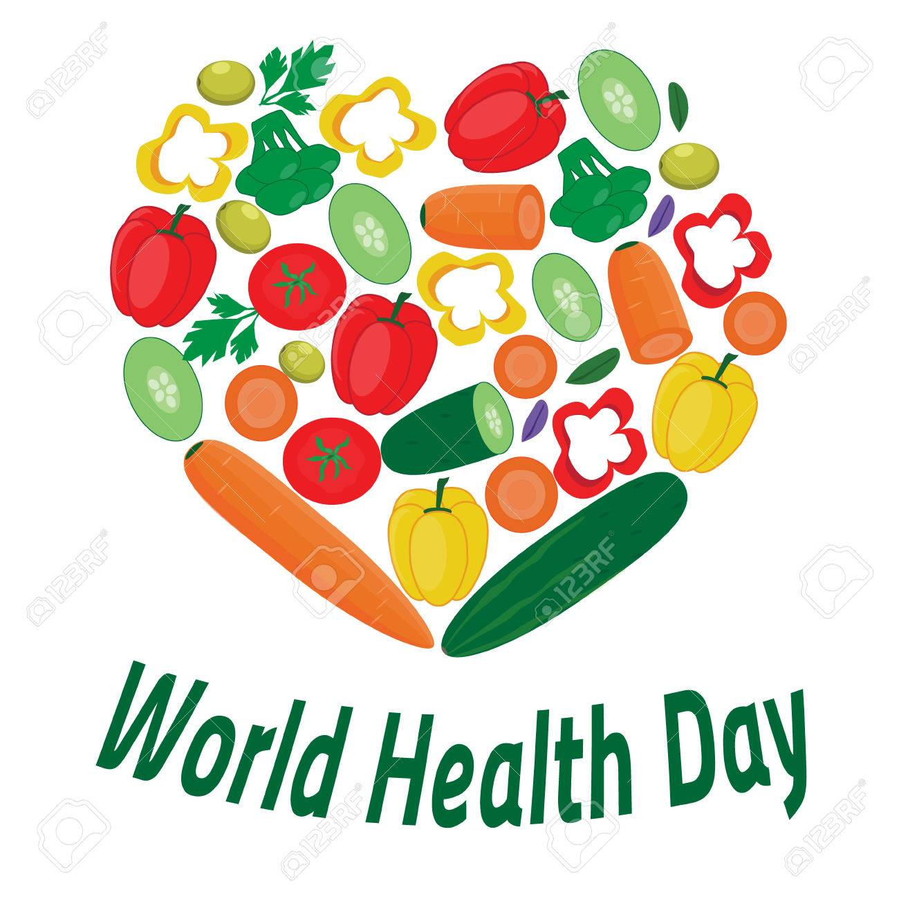World Health Day Banner Hearth From Vegetables Royalty Free Cliparts Vectors And Stock Illustration Image 74122285