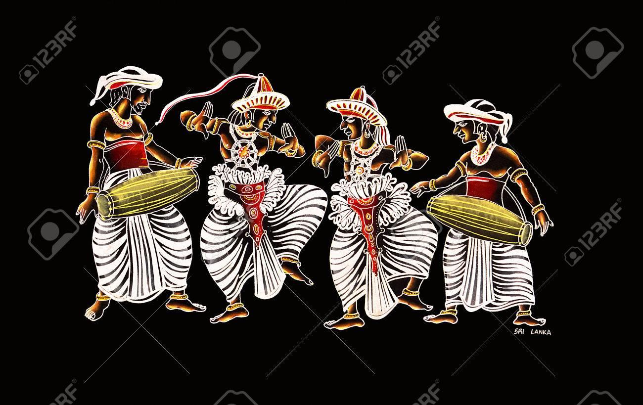 Sri Lankan Traditional Hand Made Glitter Canvas Art Of Kandy