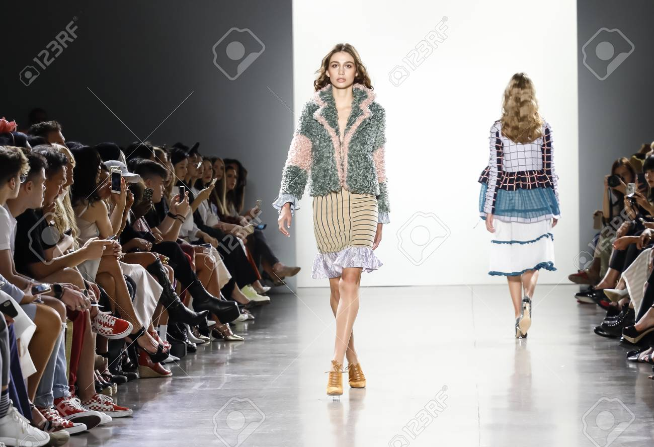 New York Ny Usa September 7 2018 A Model Walks Runway To Stock Photo Picture And Royalty Free Image Image 108789325