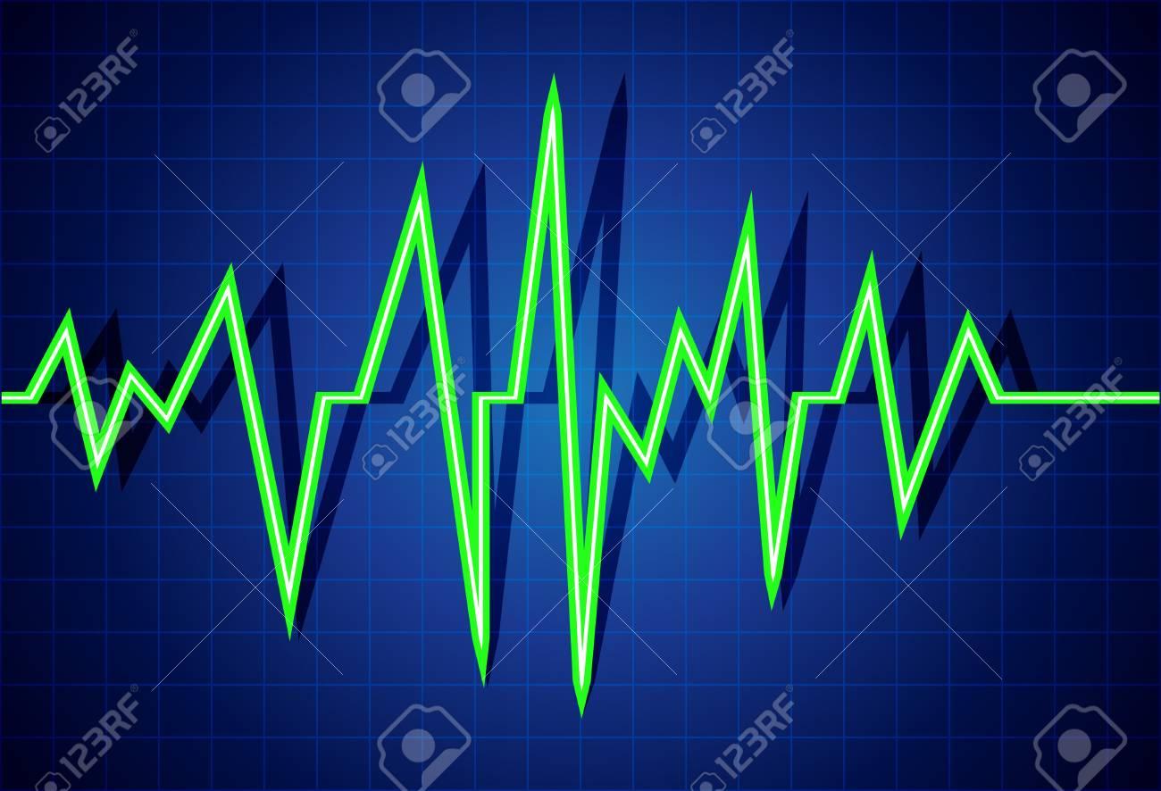 Abstract heart beats cardiogram illustration Stock Vector - 14419024