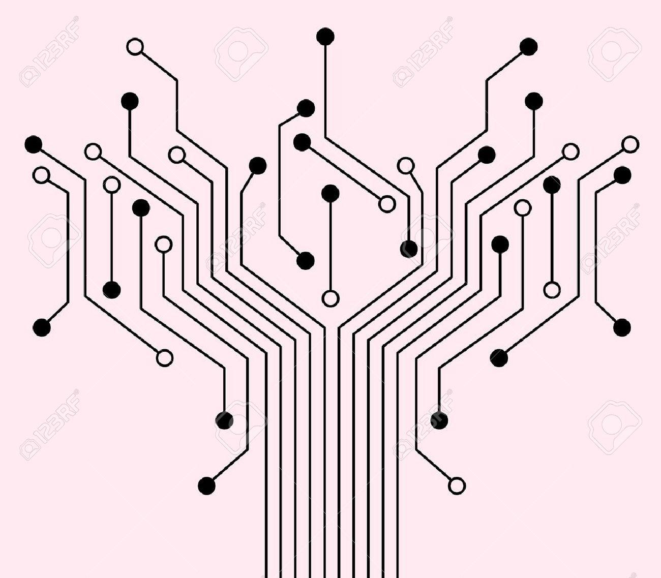 Technologie Hintergrund Mit Elektronischen Schaltung. Ist Die ...