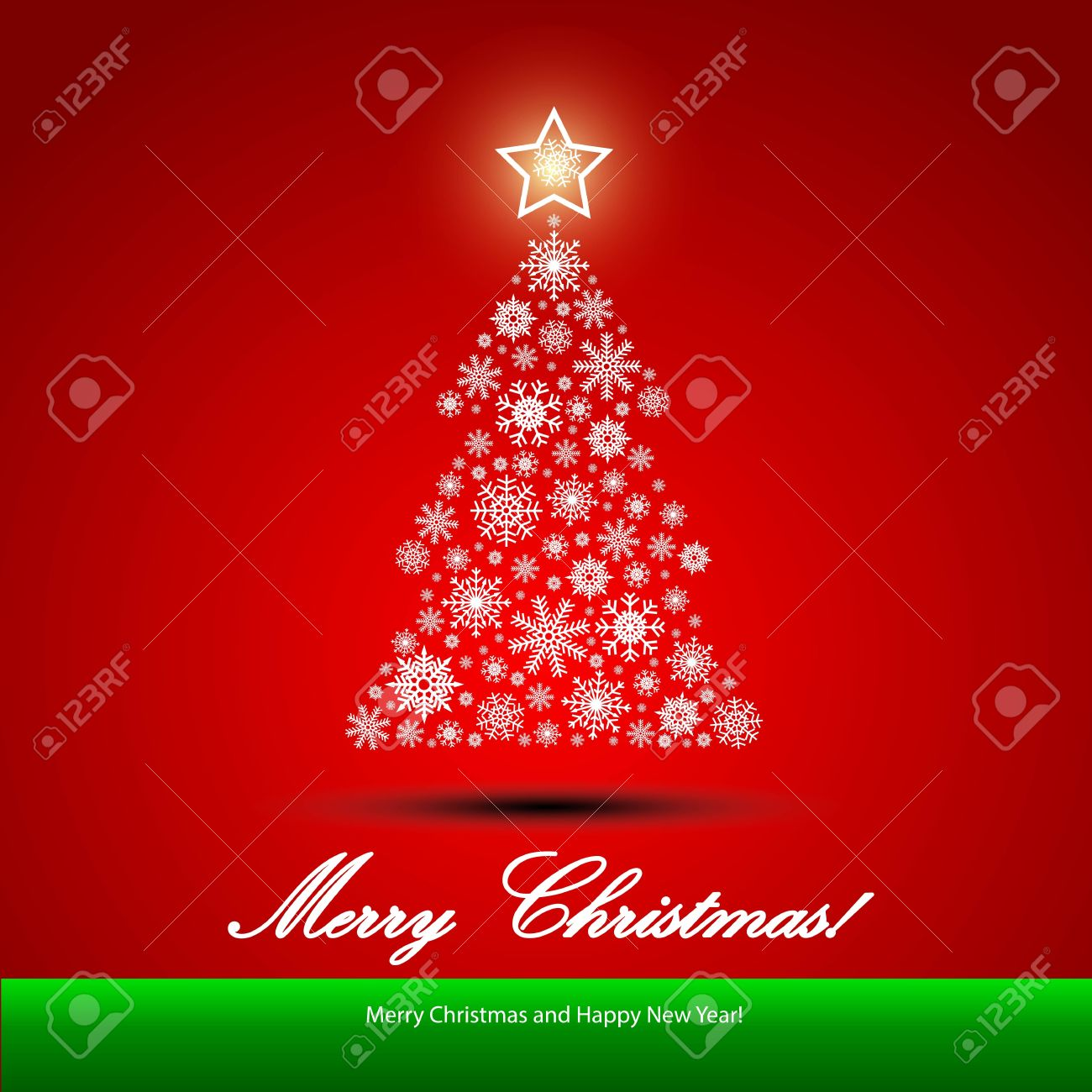 Christmas background with Christmas tree, illustration Stock Vector - 16578998