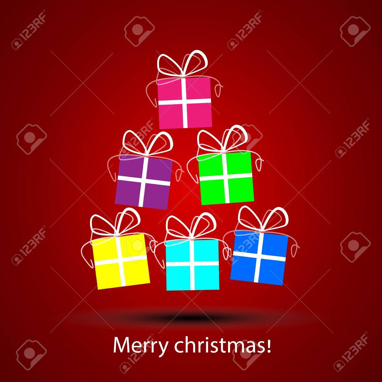 Gift box with painted white lines for making christmas cards royalty gift box with painted white lines for making christmas cards stock vector 16596290 m4hsunfo
