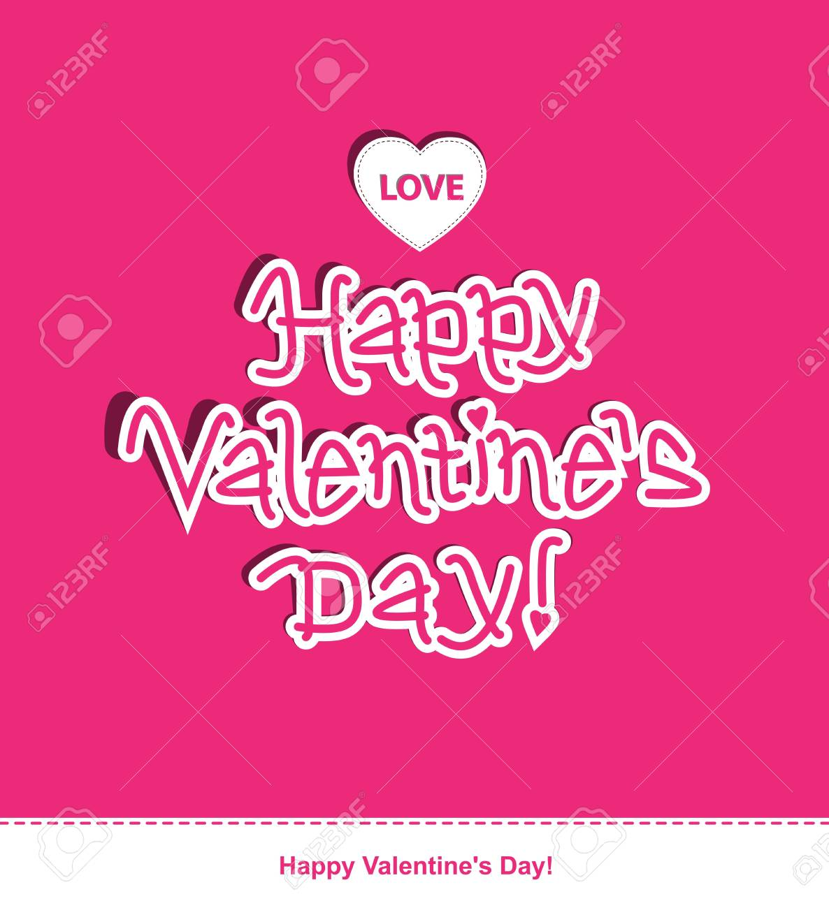 Message for Valentine's Day. Illustration Stock Vector - 17588947
