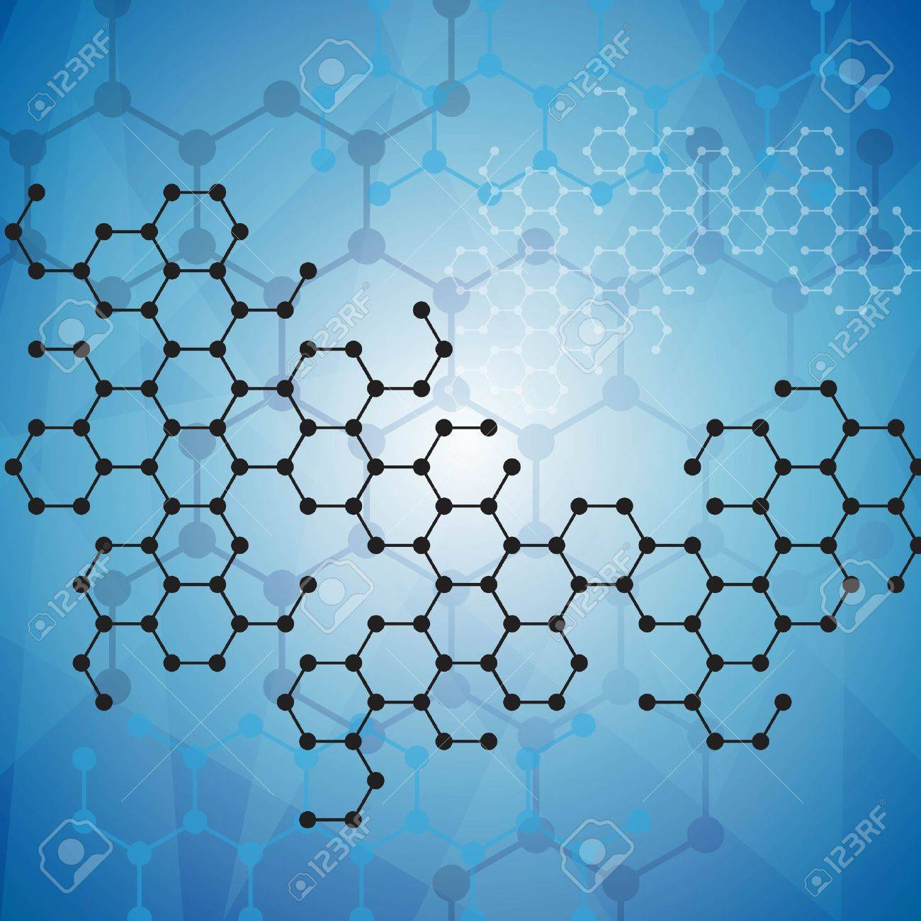 Abstract molecules medical background - 22119020