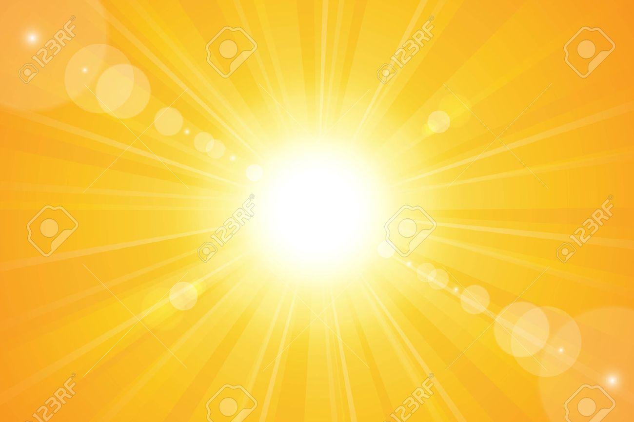 Bright sunny days sunset sky orange background for illustrations - 22620485