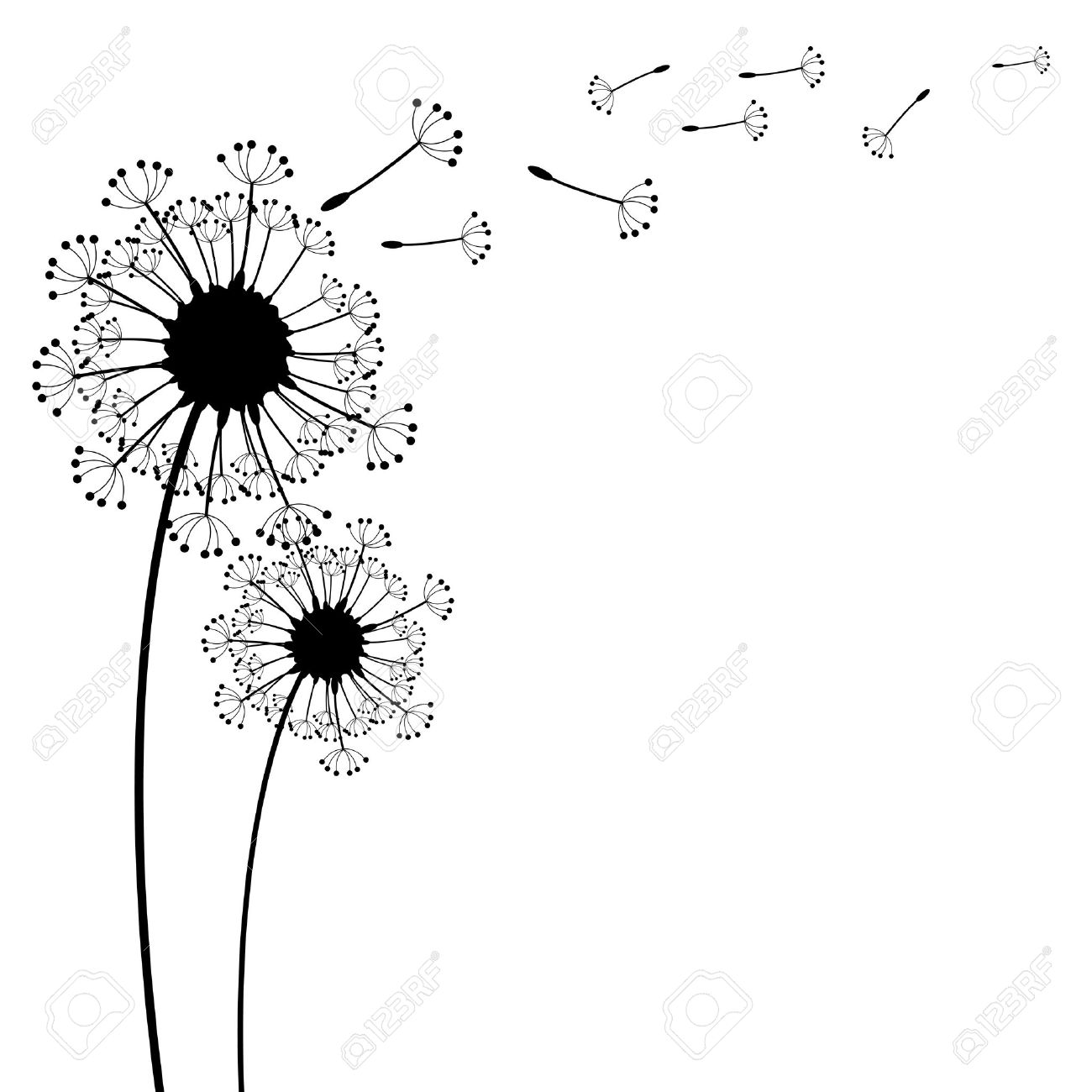 vector dandelion on a wind loses the integrity - 31835514