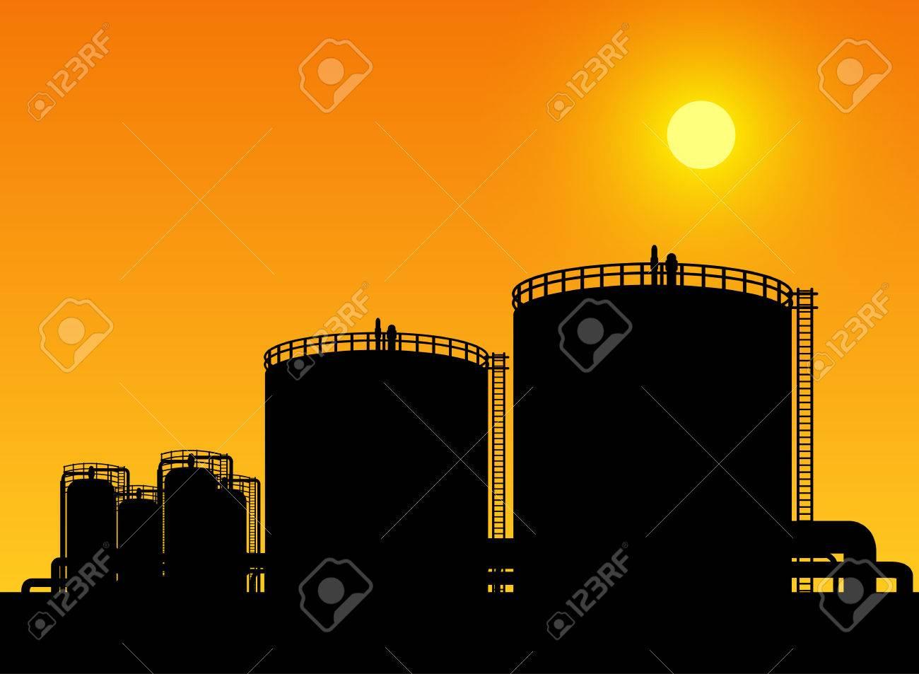 oil tank storage in oil refinery petrochemical industry estate - 31827603