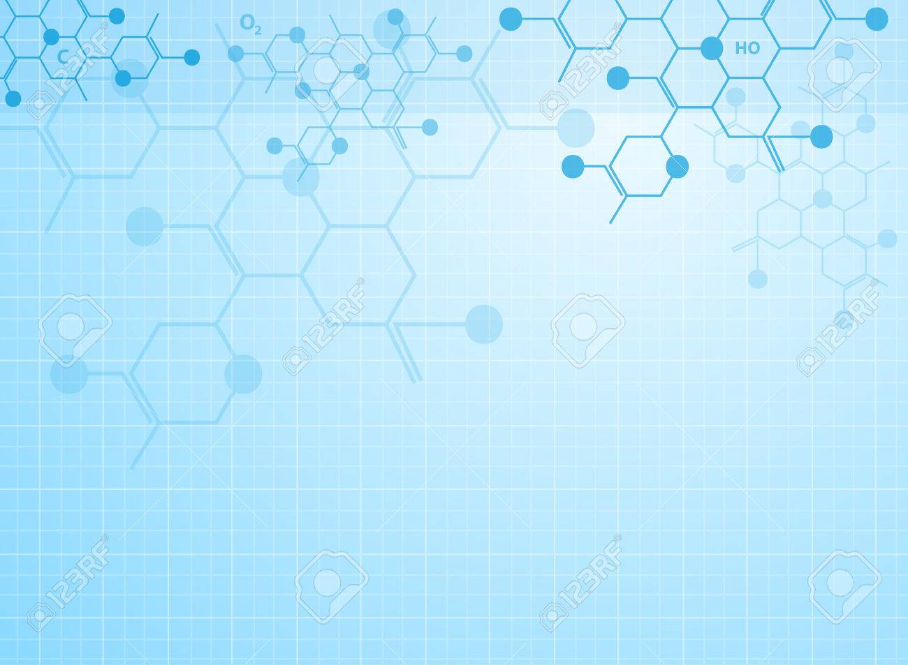 Abstract background medical substance and molecules. - 37128788