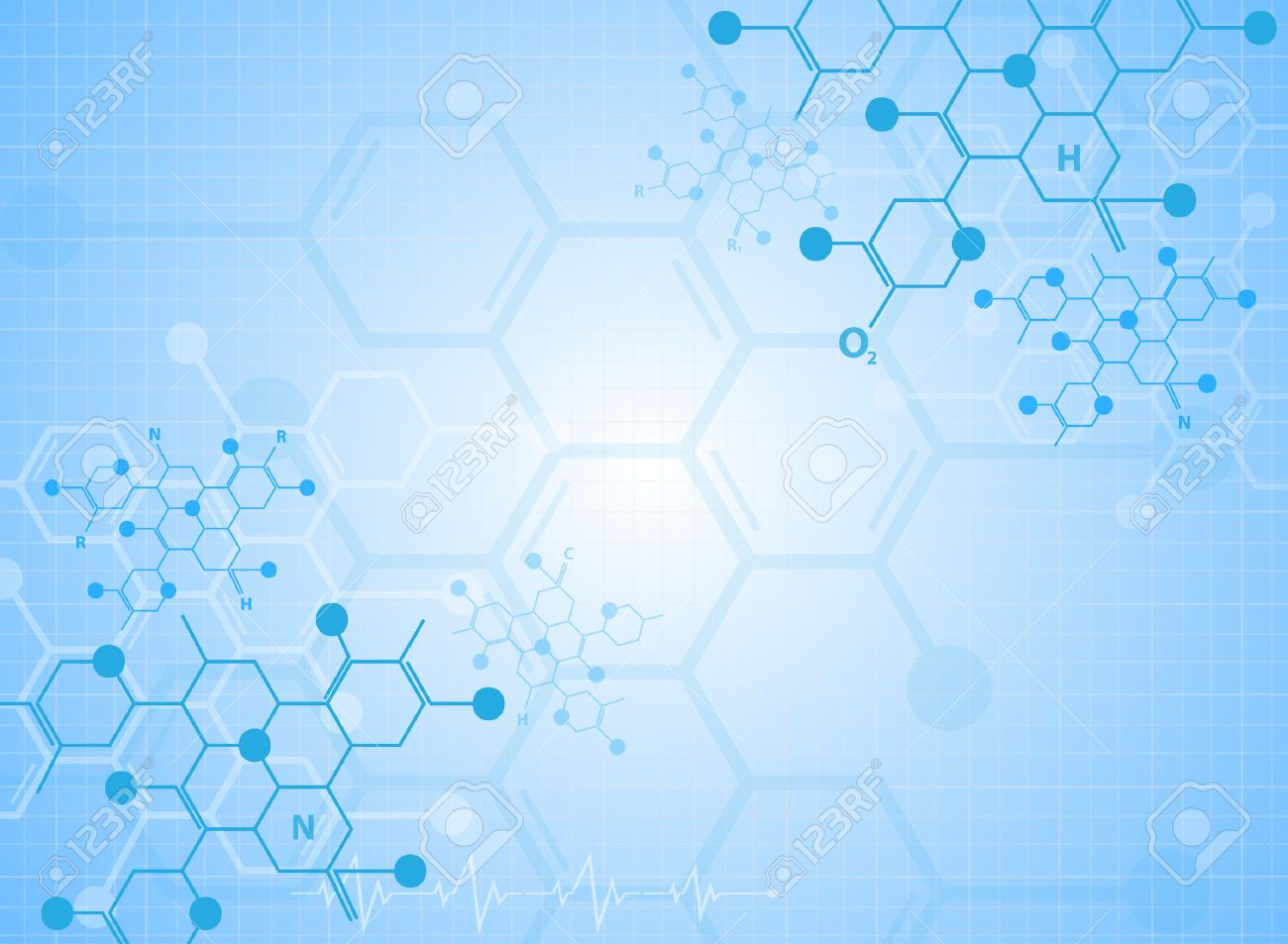 Abstract background medical substance and molecules. - 37128787