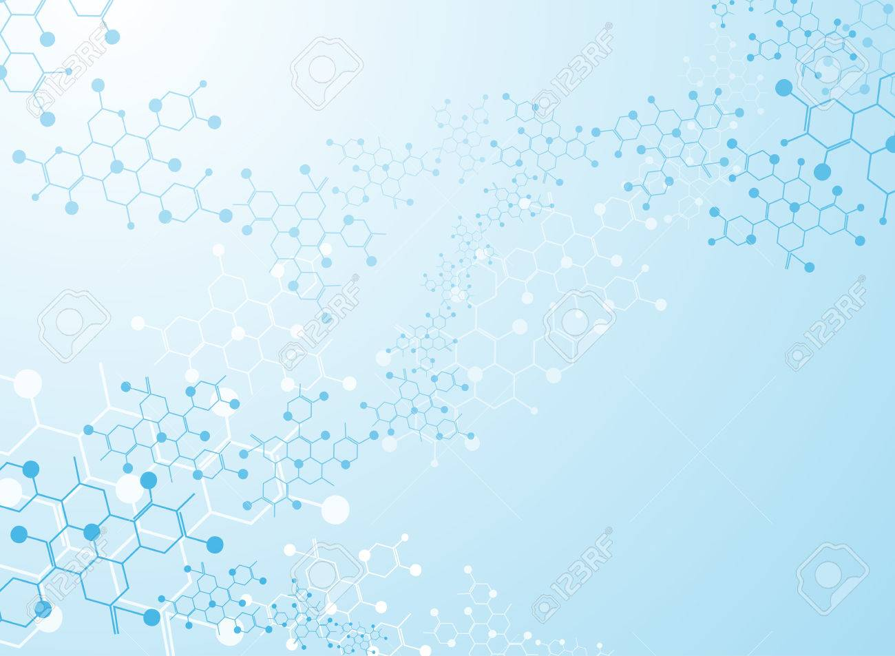 Abstract background medical substance and molecules. - 37128814