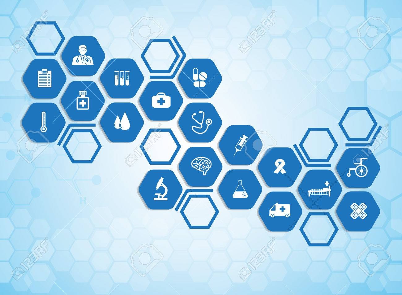 Medical background and icons to treat patients. - 40534276