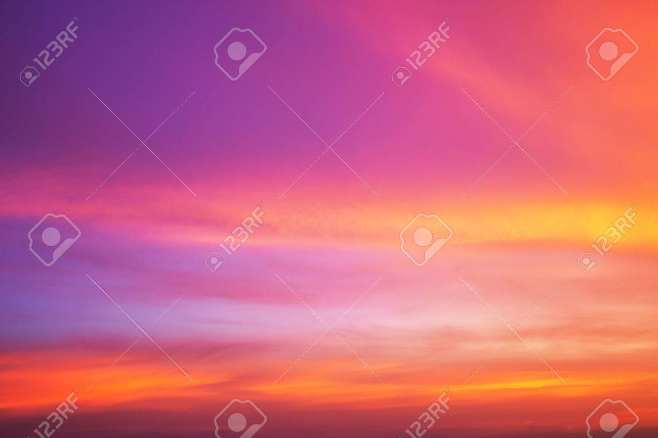 Colorful sky after the sunset. Evening sky background. - 46755279