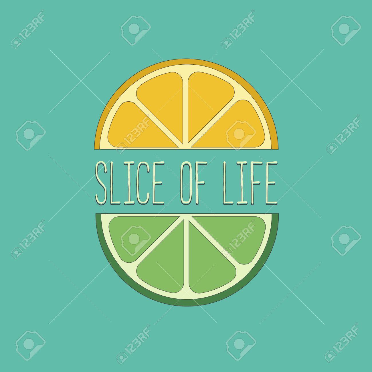 Citrus Fruits Famous Quote Slice Of Life Concept Lemon Lime