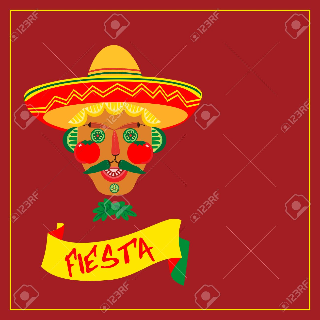 Mexican Style Mexican Fiesta Party Concept Holiday Poster
