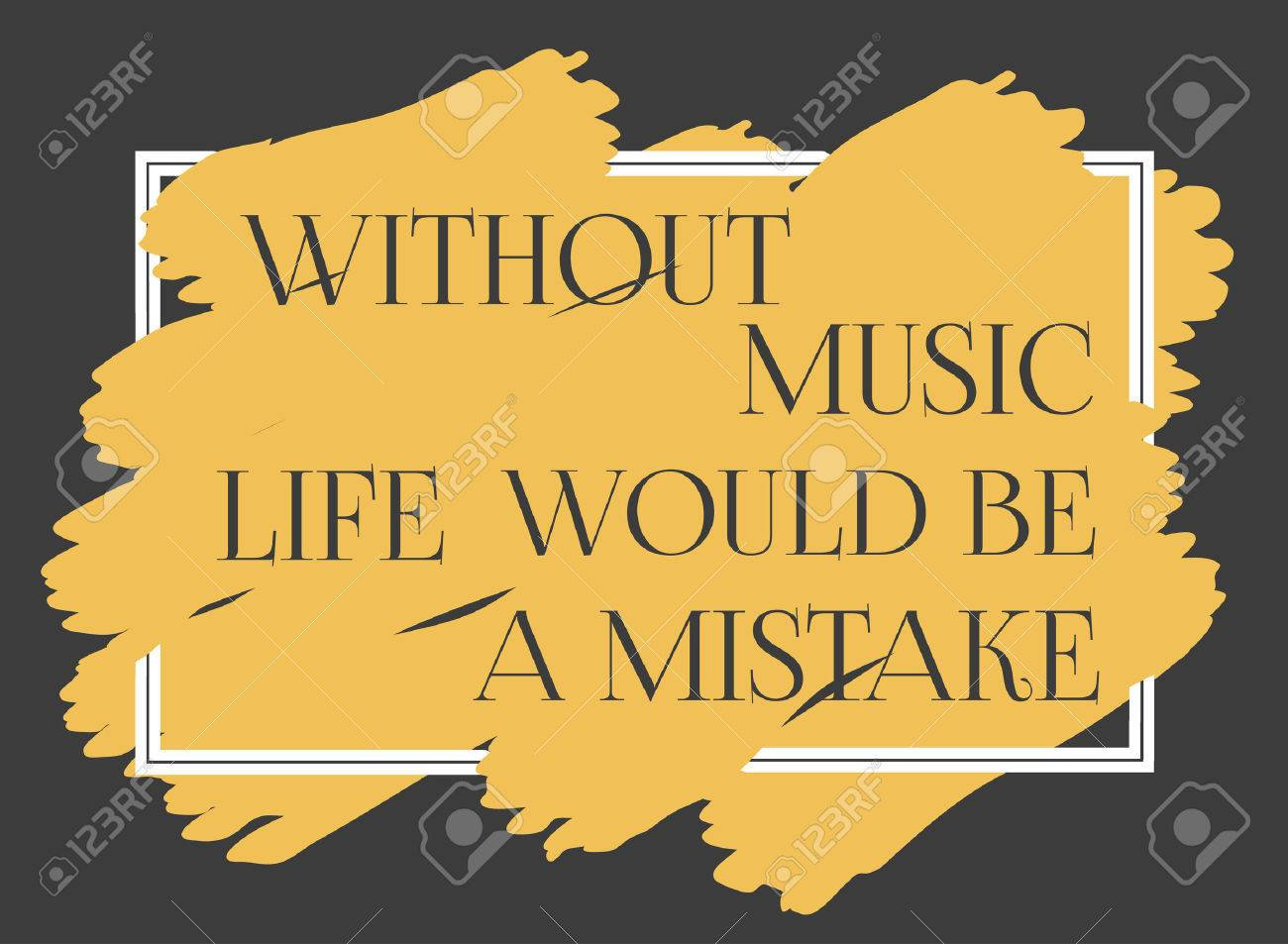 Motivated Music Quote Motivational Poster With Famous Quotation