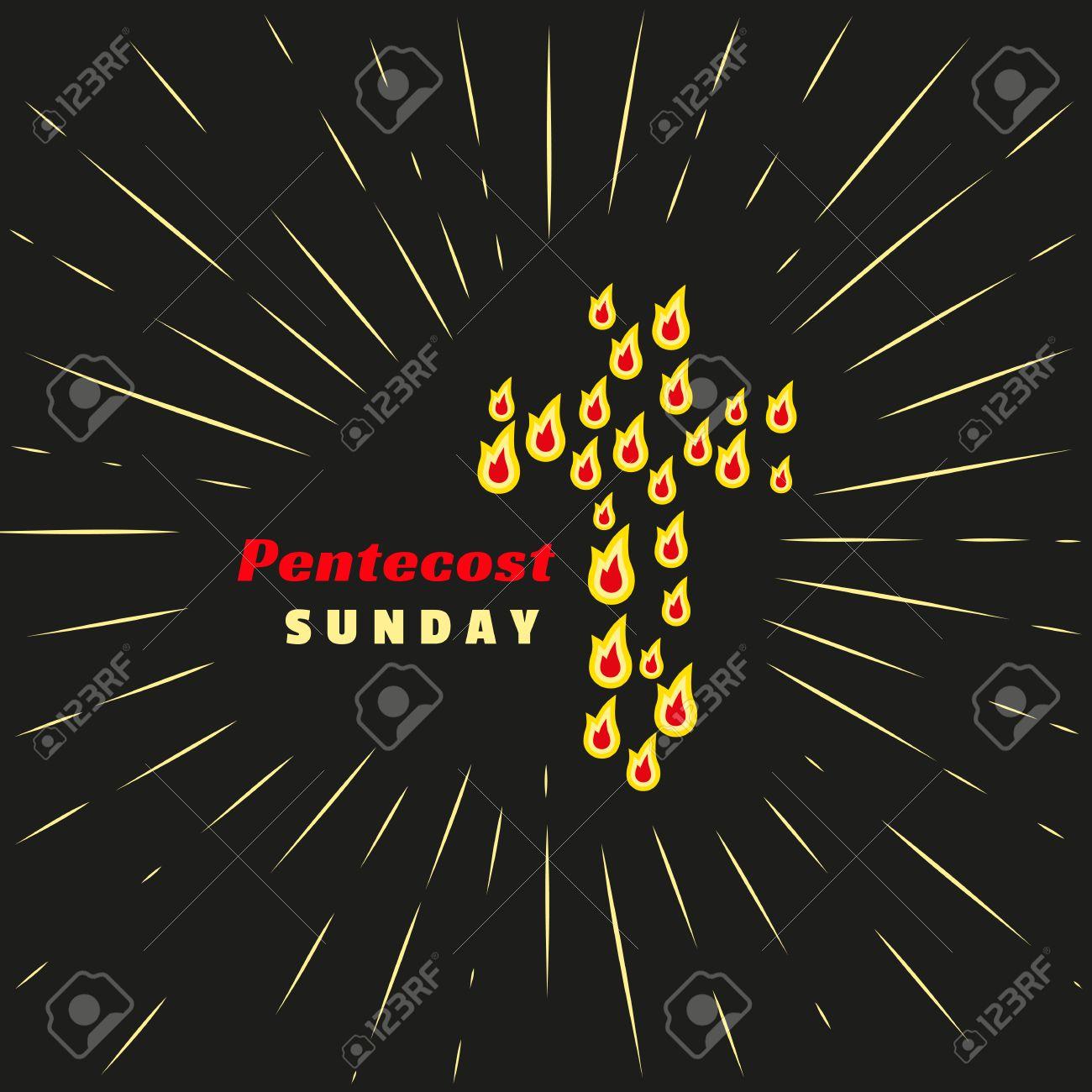 Trinity Pentecost Sunday Christian Holiday Concept Holy Spirit