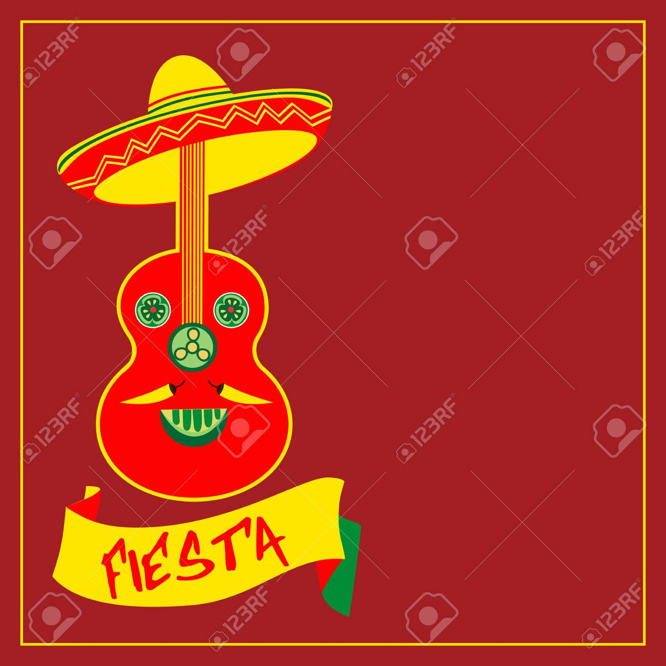 Mexican Fiesta Party Mexican Holiday Poster Template Card
