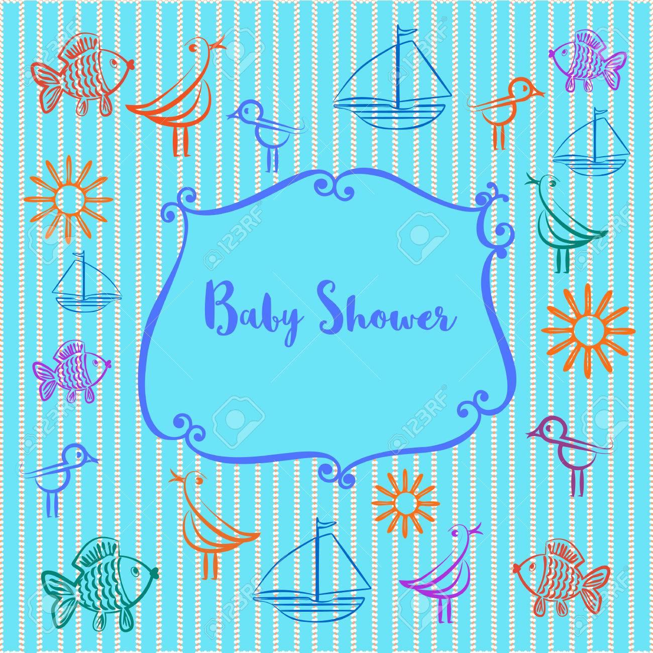 Baby Photo Album Baby Boyl Shower Invitation Cute Frame For