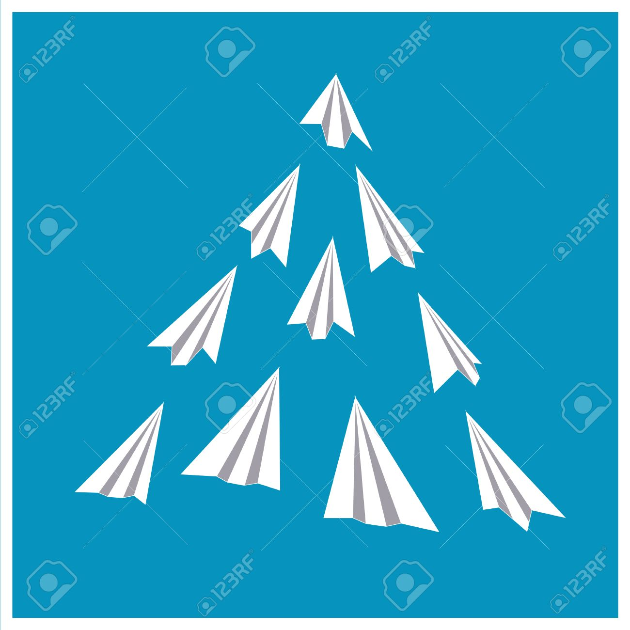 paper planes poster origami airplanes folded paper presentation