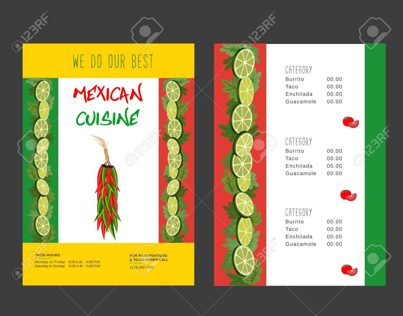 set of templates for restaurant mexican food menu advertisement set of templates for restaurant mexican food menu advertisement flyers hot chili pepper