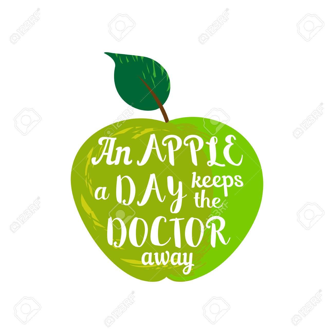 Citation Inspiree Motive Proverbe Une Pomme Par Jour Eloigne Le