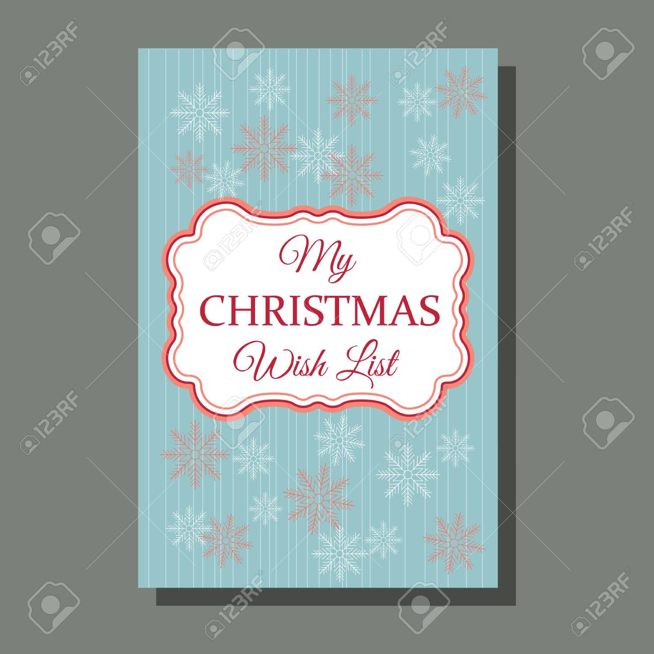 Christmas Card Greeting Idea.Christmas Card Holiday Season Greeting Concept My Wish List