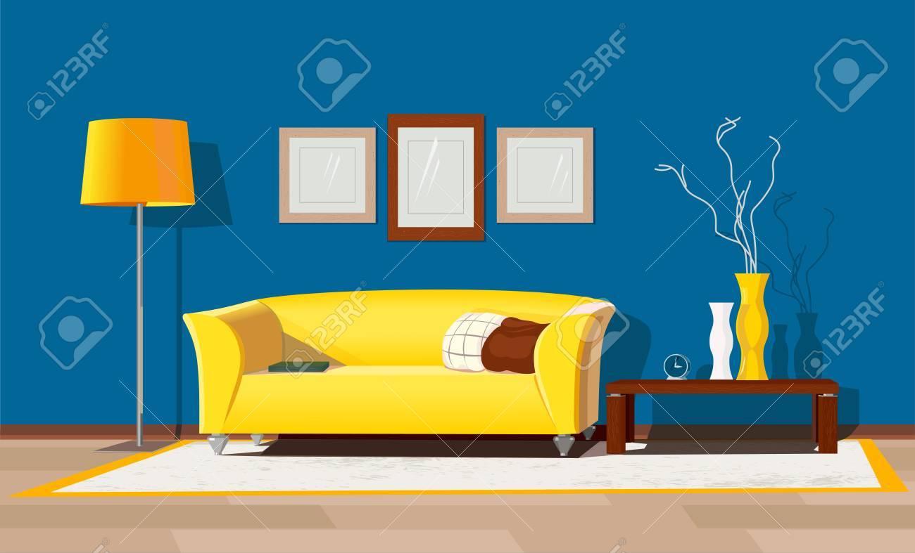 Modern house interior - 77392570