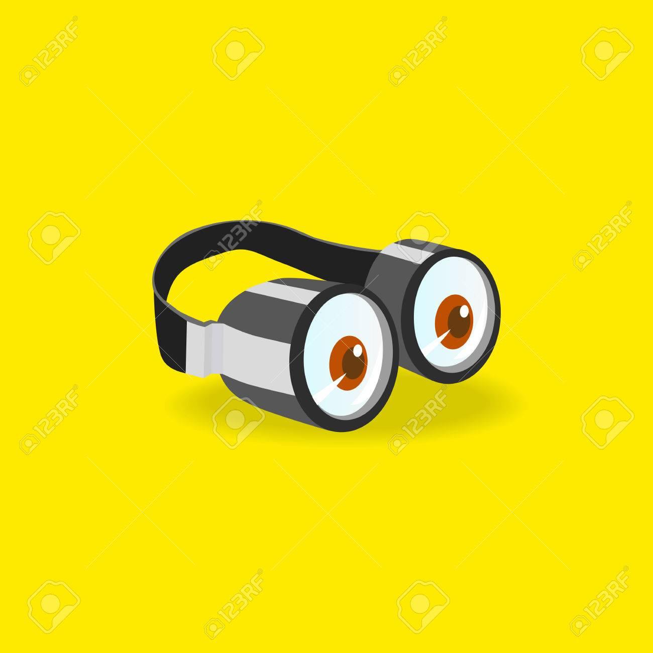 Minions Goggles Concept D Icone Deux Verres D Yeux Style De
