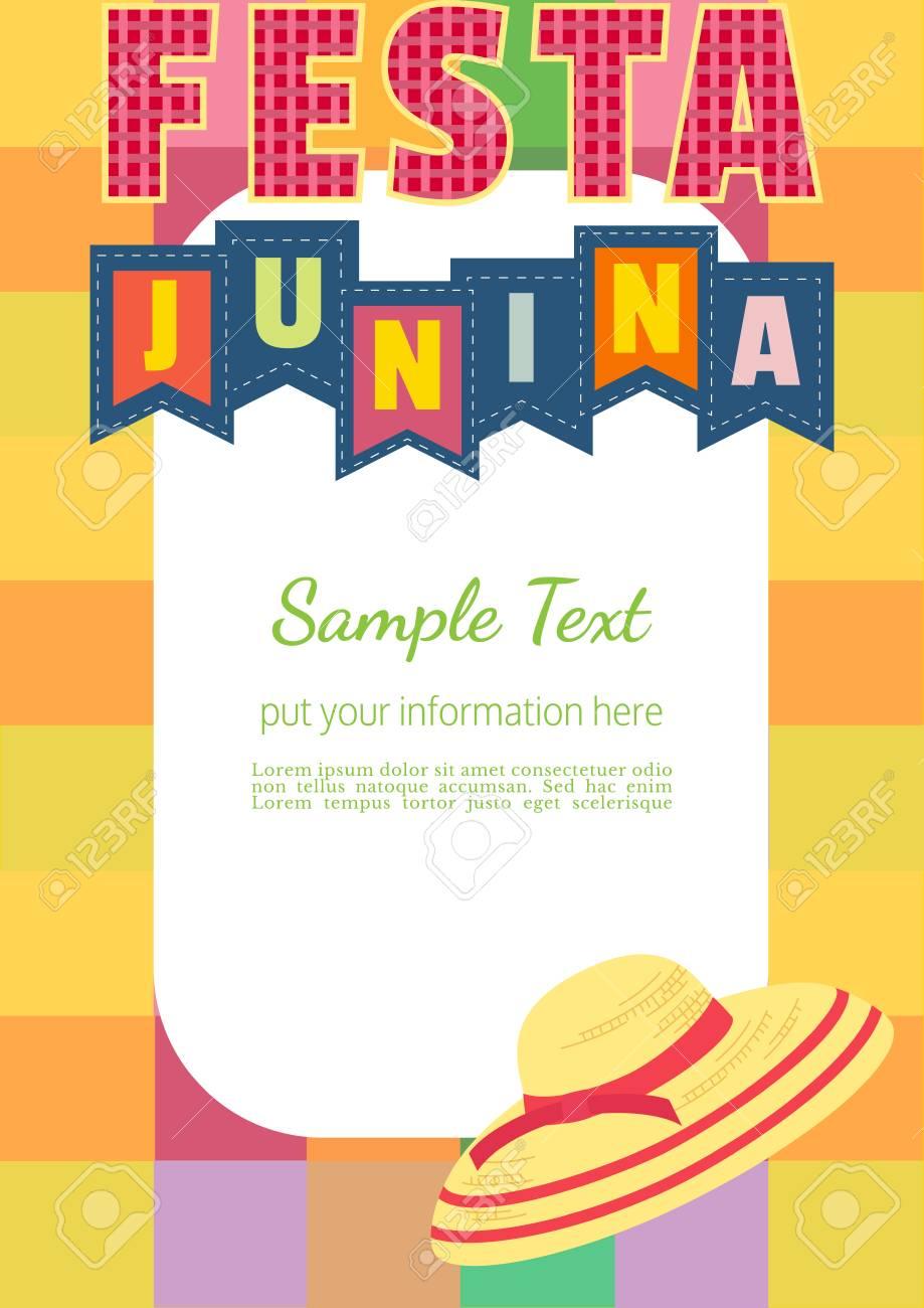 Festa Junina Latin American Holiday Festive Party Text Flyer