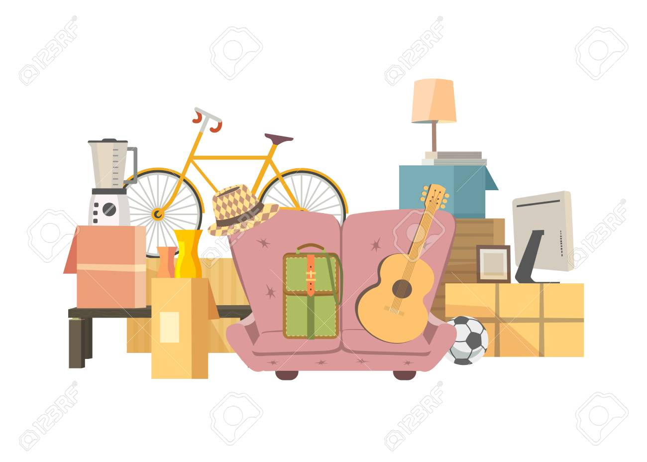 Moving boxes icon  Home change concept  Package to move to new
