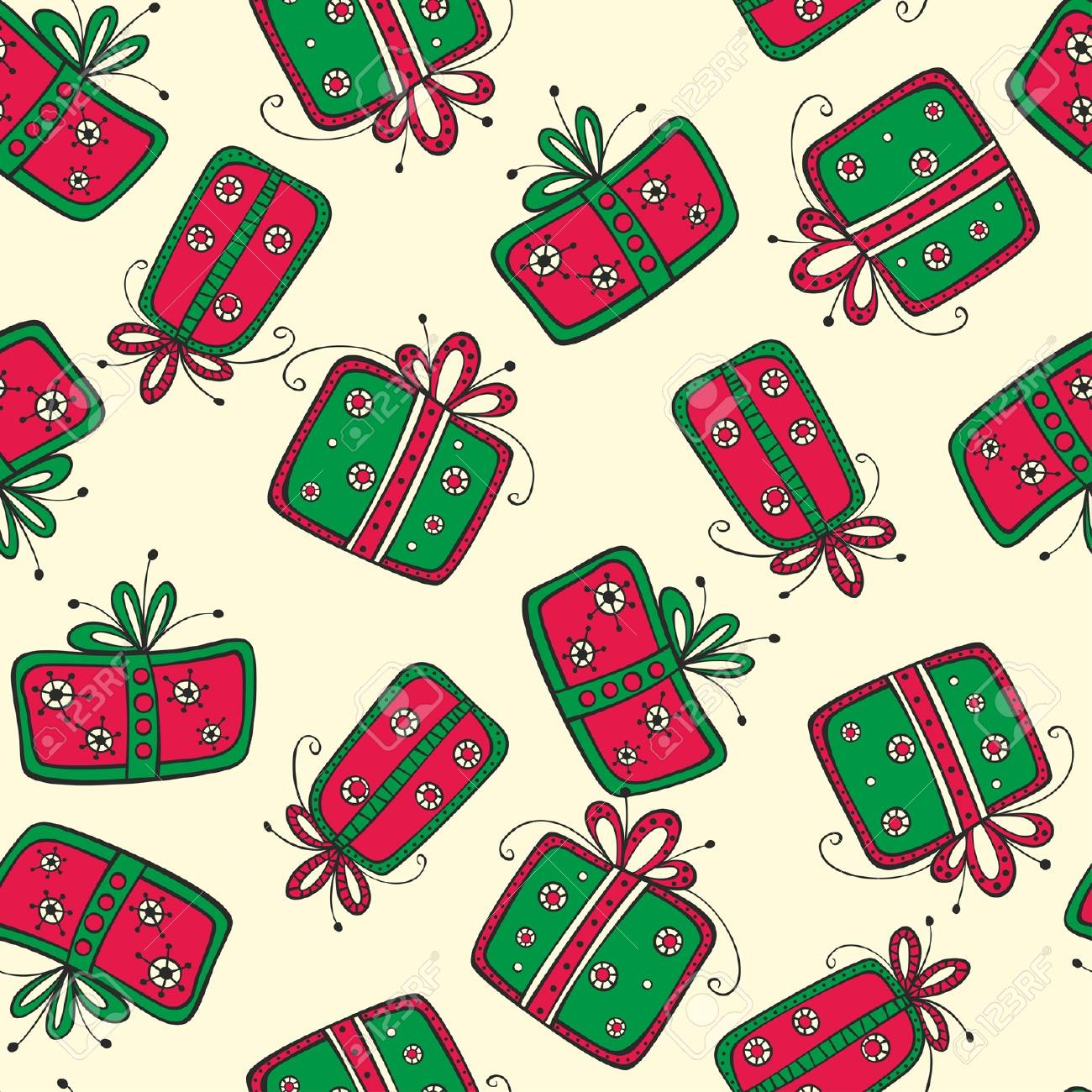 Seamless pattern with gifts Stock Vector - 17685280