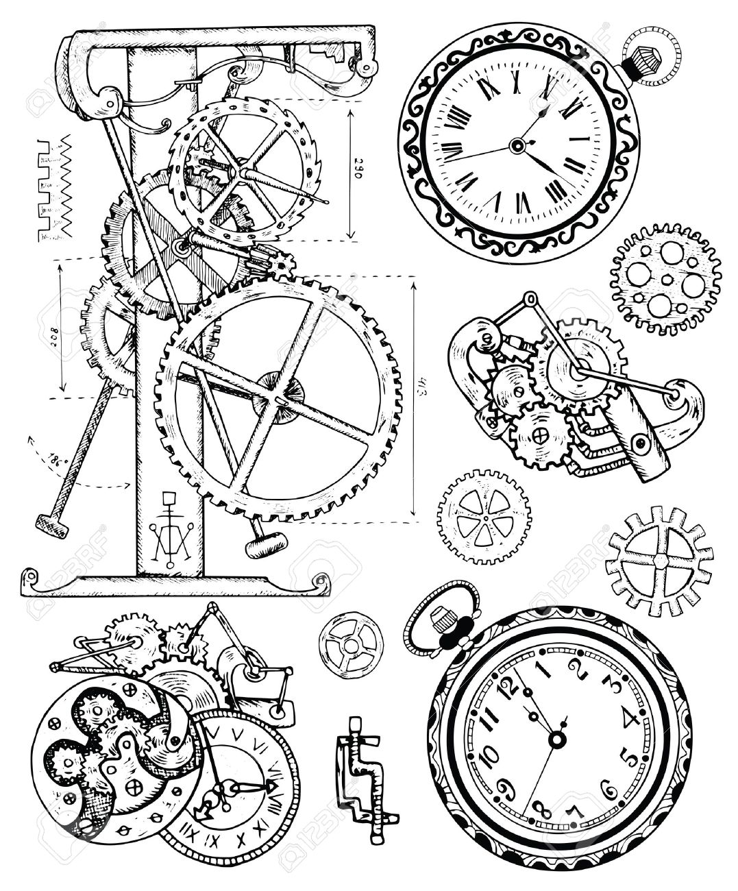 Armbanduhr Skizze