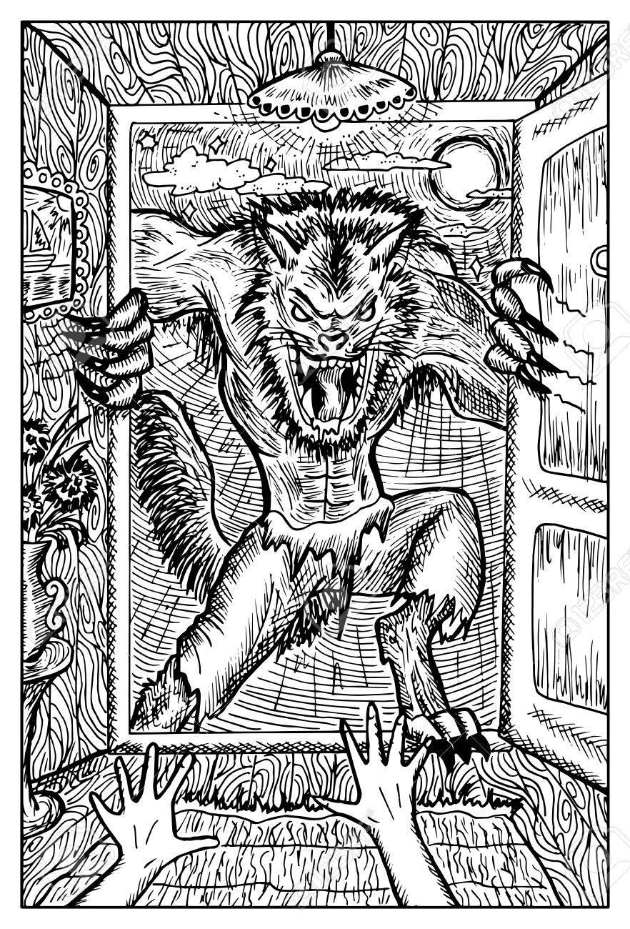 Hombre Lobo O Wolfman Contra La Luna Llena. Fantasía Colección ...