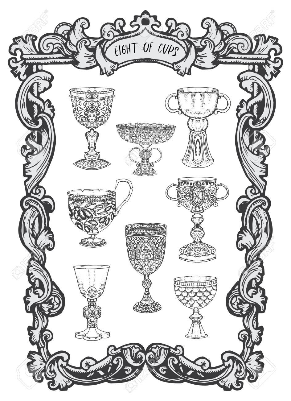 Eight Of Cups Minor Arcana Tarot Card The Magic Gate Deckfantasy