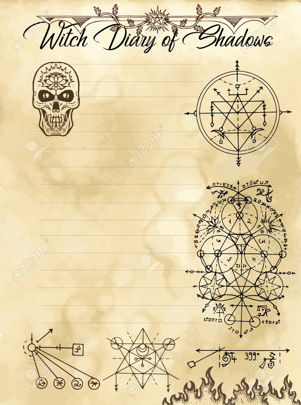 Witch Diary Page 16 Of 31 With Occult Sacred Geometry