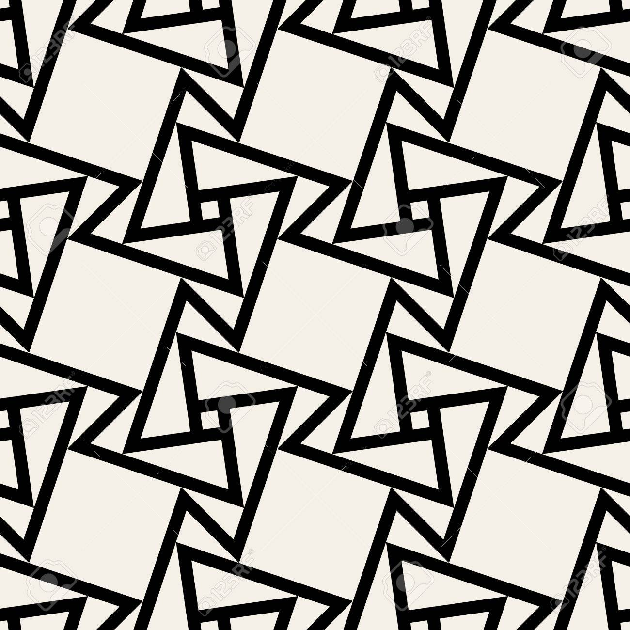 Seamless Black And White Geometric Square Tile Pattern Background ...