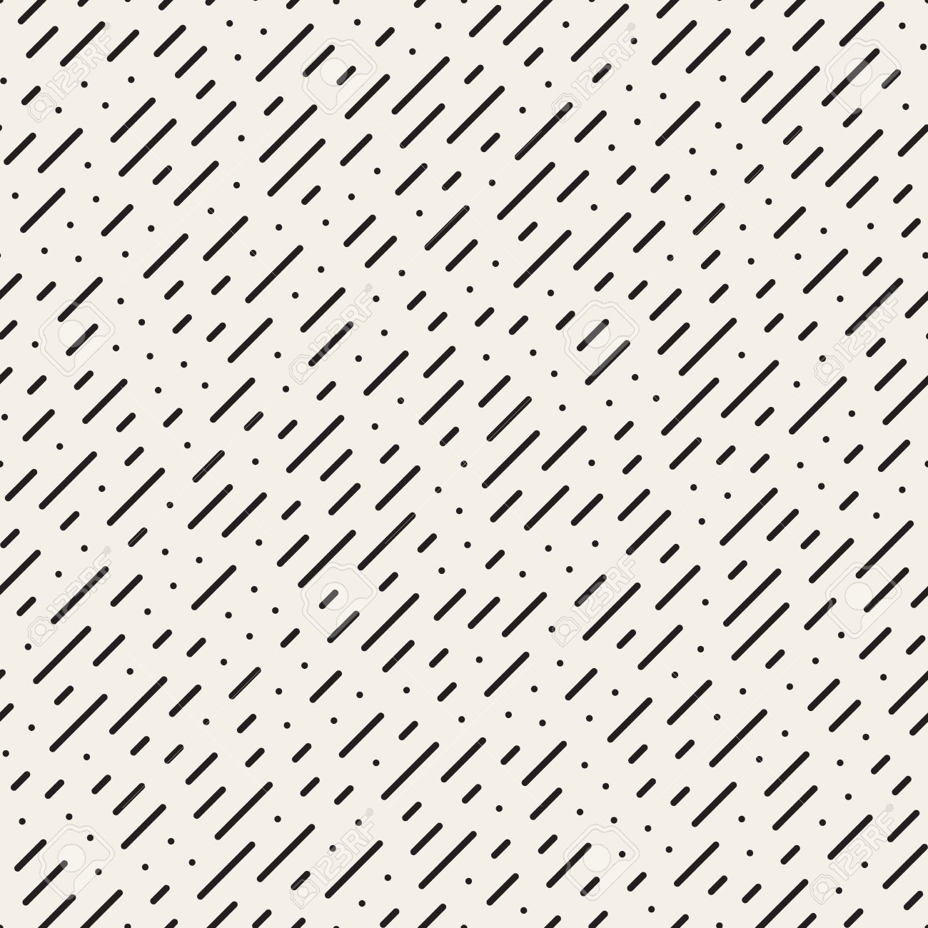 Seamless Black and White Diagonal Dashed Lines Rain Pattern Abstract Background - 56849497