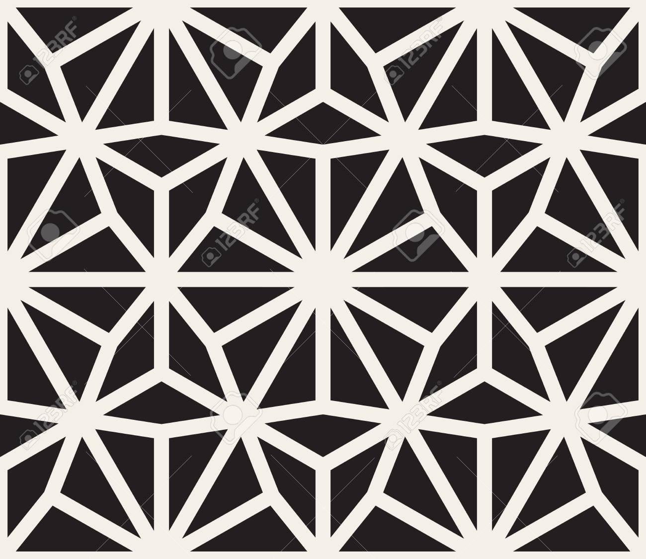 8a316d540acd Sin fisuras vector patrón Negro y blanco del cordón. Diseño abstracto del  fondo geométrico