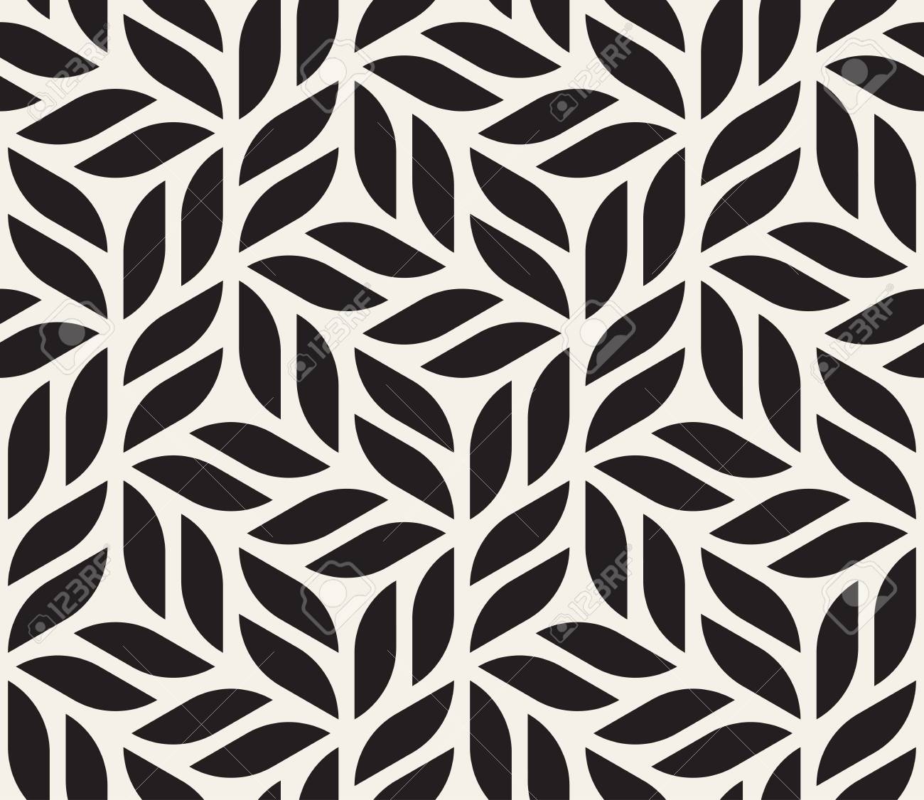 Vector seamless pattern. Modern stylish abstract texture. Repeating geometric tiles from striped elements - 95036585
