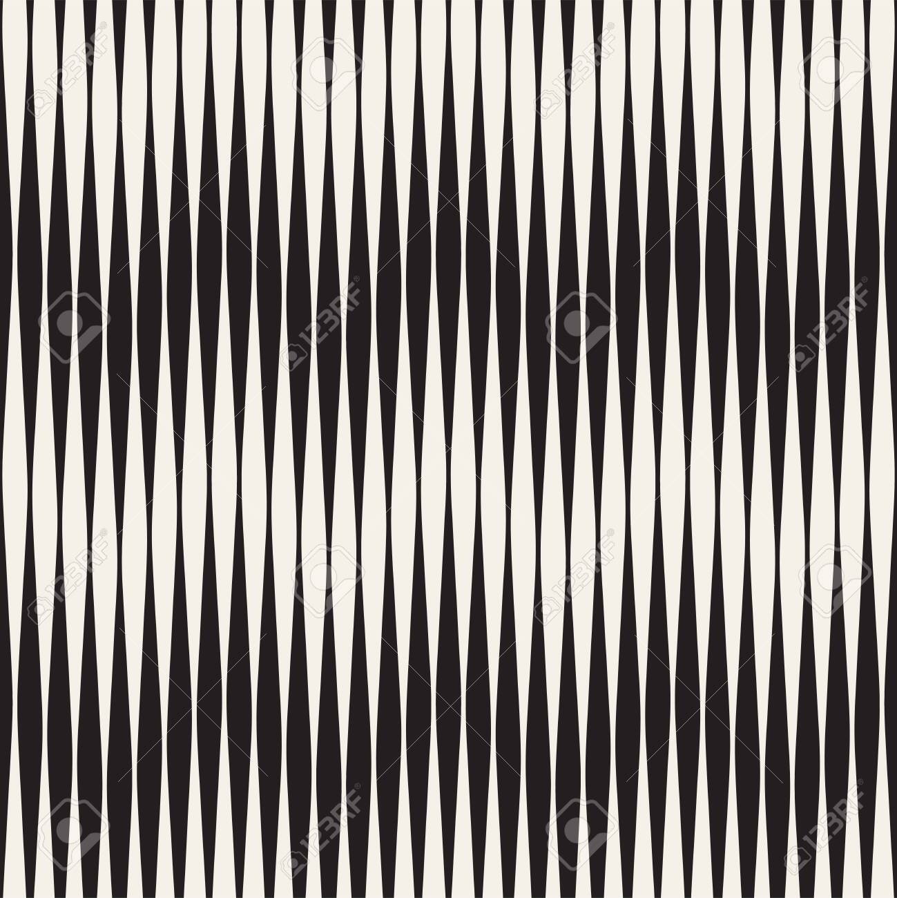 Seamless ripple pattern. Repeating vector texture. Wavy graphic background. Simple wave stripes - 99081020