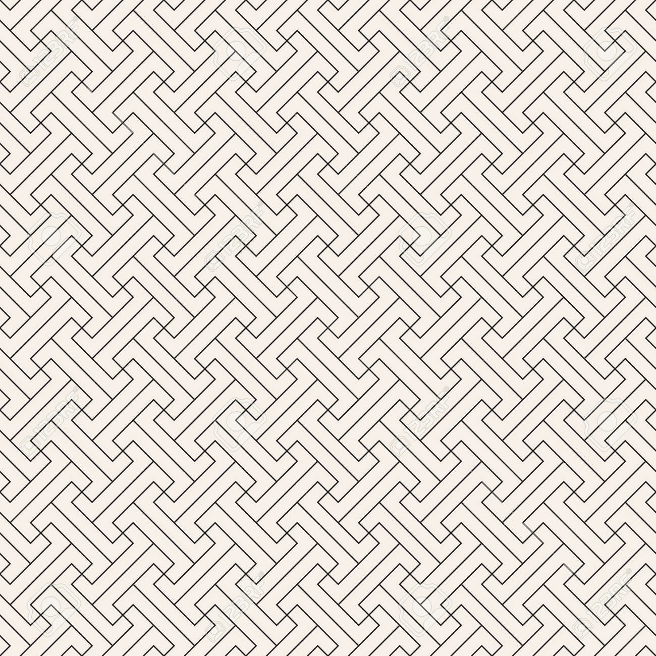 Vector seamless pattern. Modern stylish abstract texture. Repeating geometric tiles from striped elements - 167497928