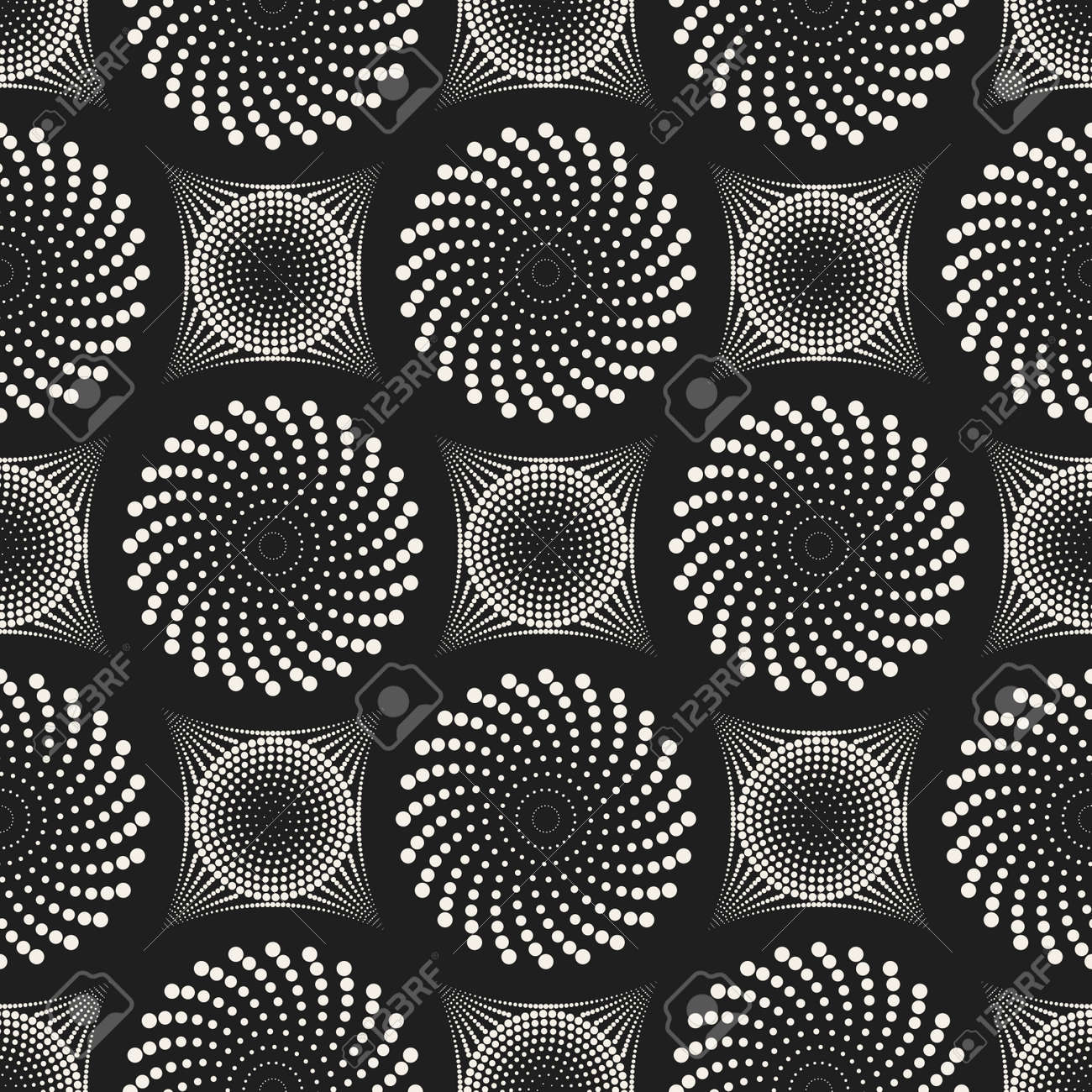 Vector seamless pattern. Modern stylish abstract texture. Repeating geometric circle and star tiles from striped decorative elements. - 167498050