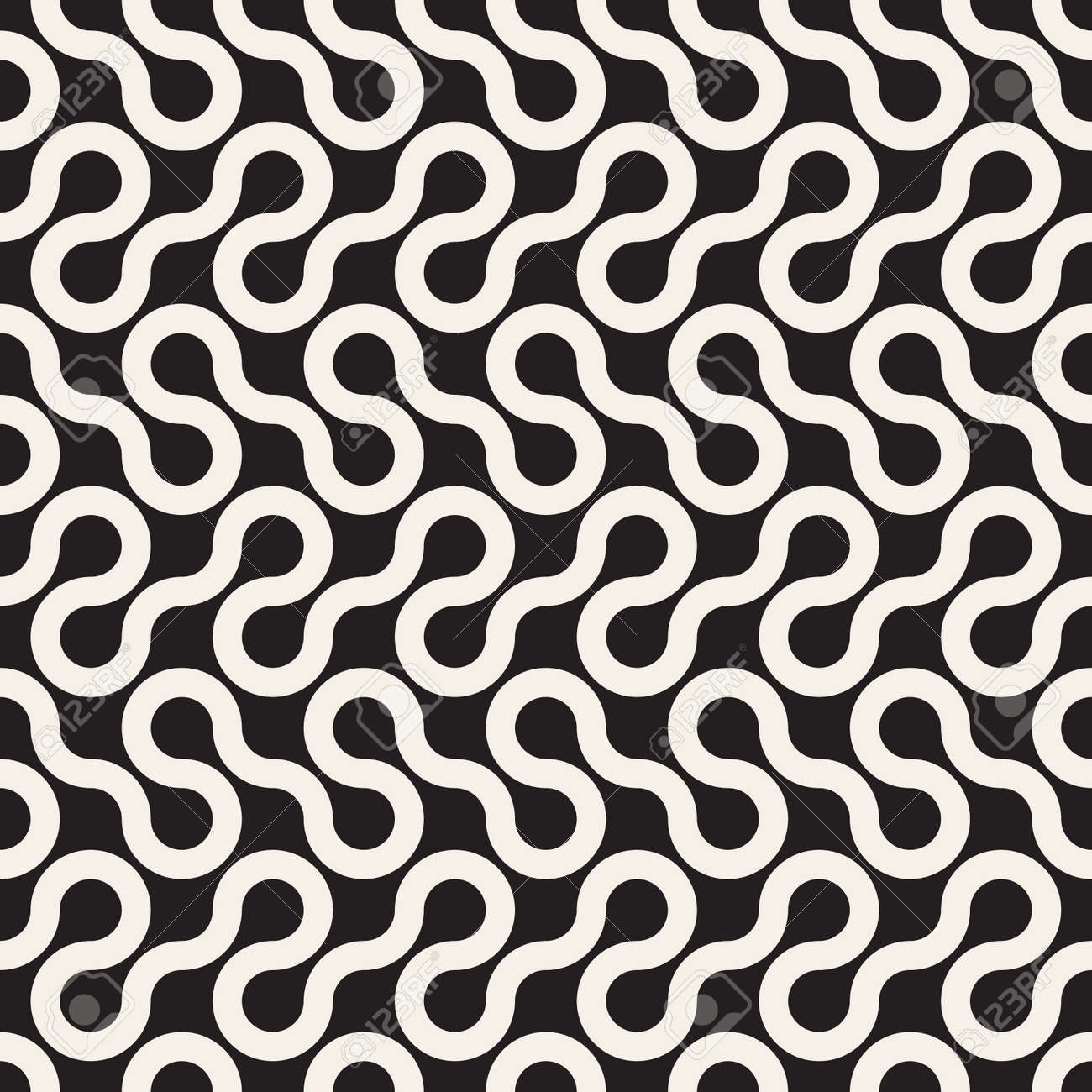 Vector seamless pattern. Modern stylish abstract texture. Repeating geometric tiles - 170973908