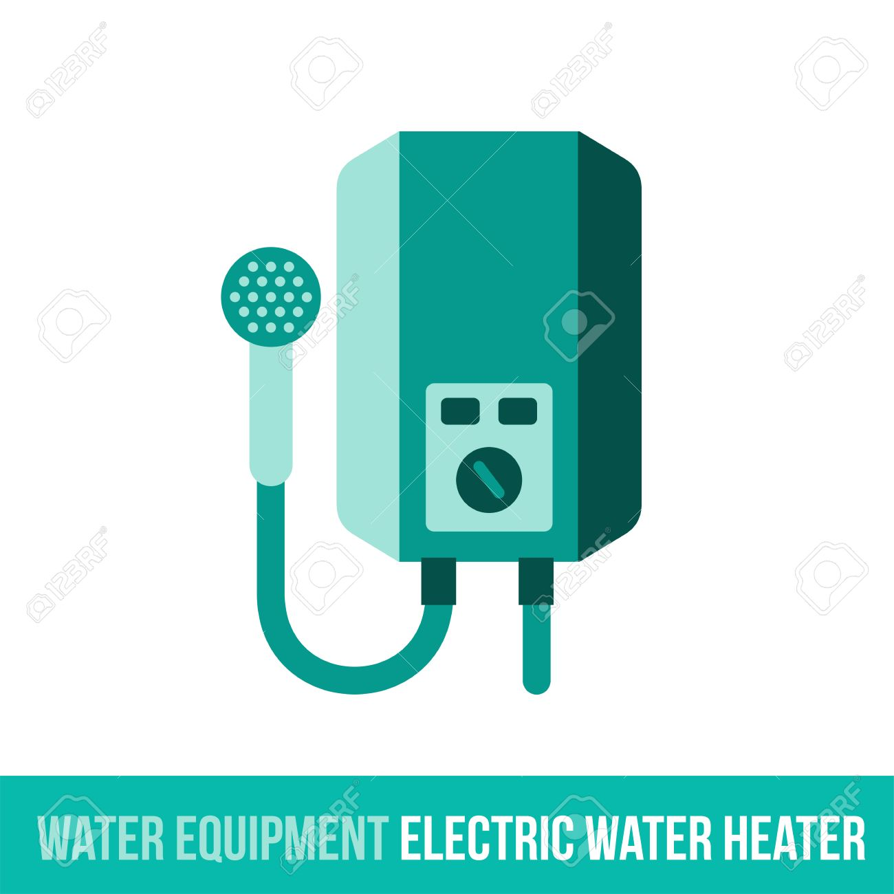 Vector flat icon water equipment for bathroom heating electric vector flat icon water equipment for bathroom heating electric water heater web design biocorpaavc