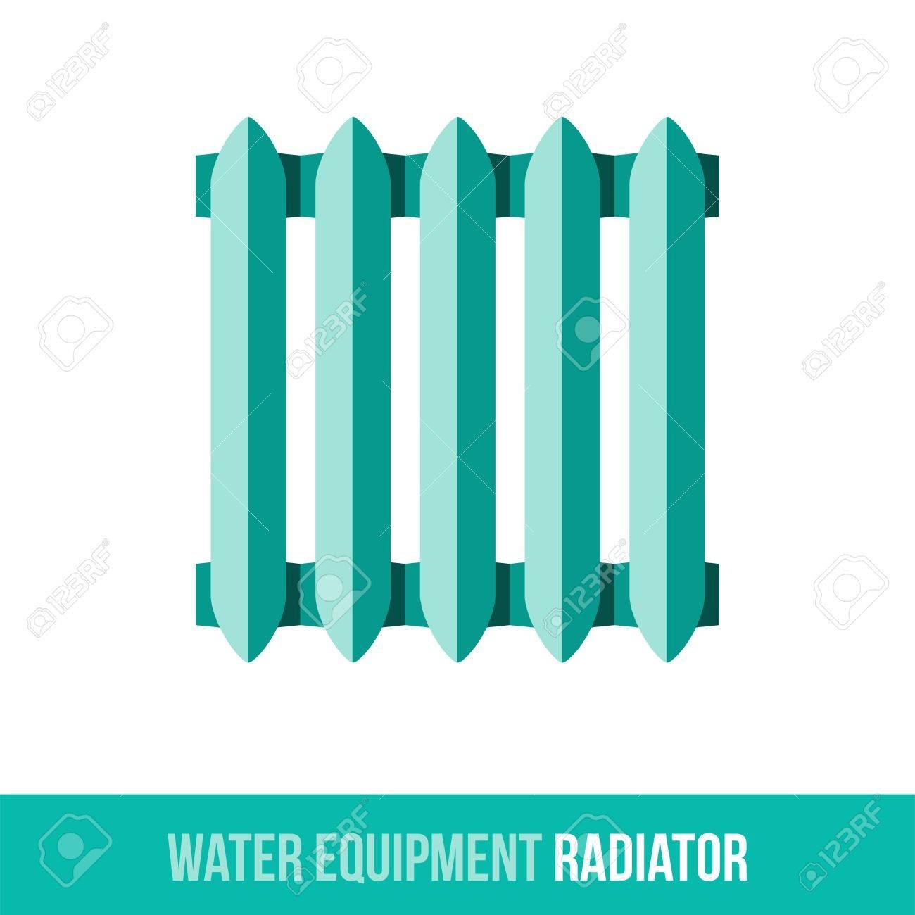 Vector - Vector flat icon central heating radiator. Web design, booklets,  brochures, advertisements, manuals, technical descriptions.